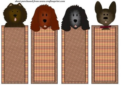 4 Pet Dog segnalibri/DL topper set 2 di Sharon Poore Craftsuprint