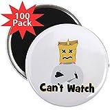 CafePress - Emoji Unicorn Can't - 2.25'' Magnet (100 pack)