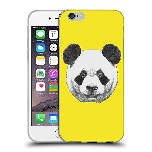 GoGoMobile Coque de Protection TPU Silicone Case pour // Q05300625 Panda Jaune canari // Apple iPhone 7