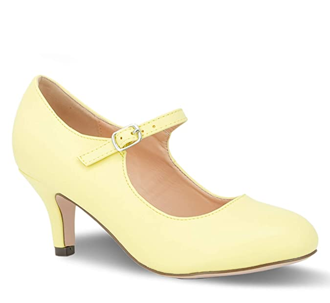 Vintage Style Shoes, Vintage Inspired Shoes Chase & Chloe Kona-2 Womens Round Toe Mid Heel Mary Jane Pump $36.00 AT vintagedancer.com