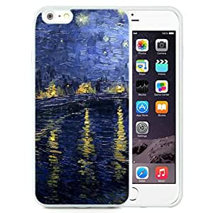 Fashionable And Nice Designed Case For iPhone 6 Plus 5.5 Inch TPU With Vincent Van Gogh Oil Painting 6 White Phone Case