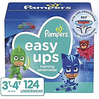 Pampers Easy Ups Training Pants Boys and Girls, Size 5 (3T-4T), 124 Count