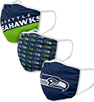Seattle Seahawks NFL FOCO Gametime Face Cover Mask - 3-Pack - One Size