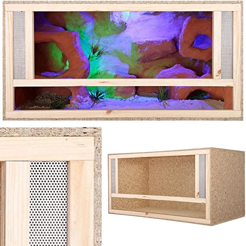Holz Terrarium Holzterrarium 80x50x50cm Frontbelüftung Reptilien Reptil
