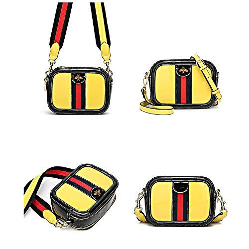 Yellow Tracolla Casual Crossbody Lady Square Borsa lavoro Donna Color da Casual Dxqi Strike Party Fashion Piccola tshrCBdxQ