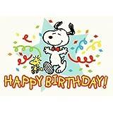 Snoopy GeburtstagsPOSTkarte Dancing