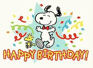 Snoopy GeburtstagsPOSTkarte Dancing: Amazon.de: Bürobedarf