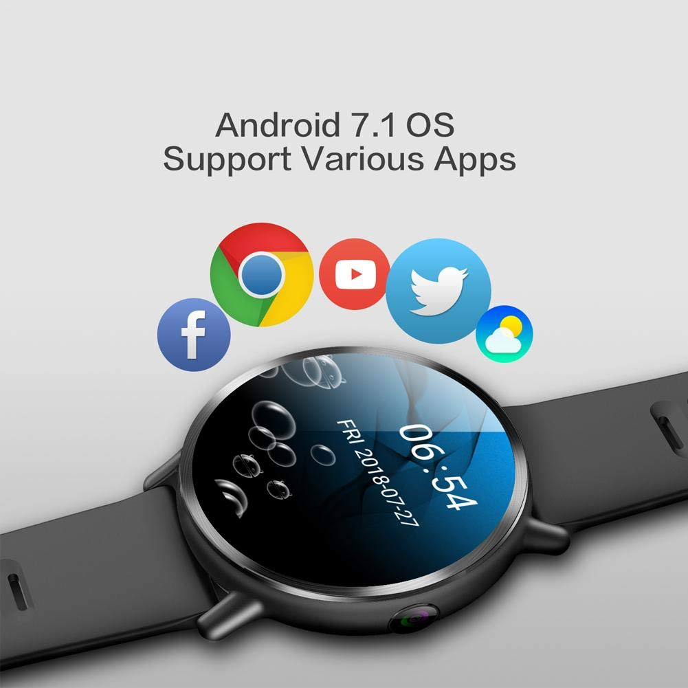 Chen0-super LEMFO LEM X Smart Watch, Android 7.1 4G 2.03 900Mah GPS 5MP Cámara Ip67 Impermeable Lujo Reloj Inteligente para Hombre Smartwatch