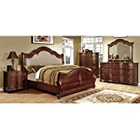 247SHOPATHOME Idf-7350H-EK-6PC Bedroom-Furniture-Sets, King, Cherry