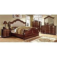 247SHOPATHOME Idf-7350H-EK-6PC Bedroom-Furniture-Sets, King, Cherry