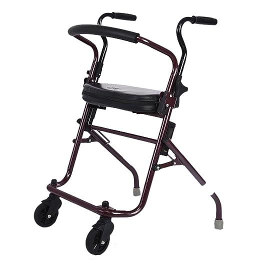 ayuda a caminar XXGI Ligero Plegable Rollator Walker De 4 ...