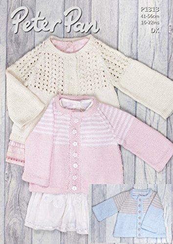 Peter Pan Baby chaquetas bebé algodón patrón para tejer 1313 ...