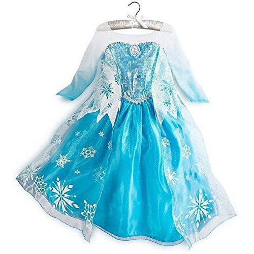 Zebra Remember Snow Queen Dresse Girls Princess Dresses Cosplay Costume Long -