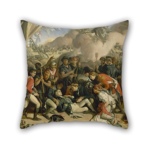 Cushion Covers Of Oil Painting Daniel Maclise - The Death Of Nelson For Office Dinning Room Home Theater Son Dance Room 18 X 18 Inches / 45 By 45 Cm(double (Daniel Maclise Halloween)