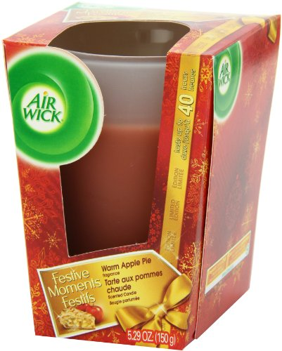 Air Wick Frosted Scented Candle, Apple Cinnamon Medley, 5.29 Ounce (Pack of 2) (Packaging May Vary)