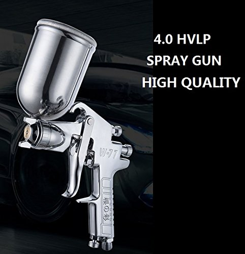 (3 days arrived) 4.0 HVLP Touch-up Spray Gun Grade Cup Gelcoat Gun, Sprays High Pressure Spray Gun with 400cc Cup, (Best Spray Gun For Gelcoat)