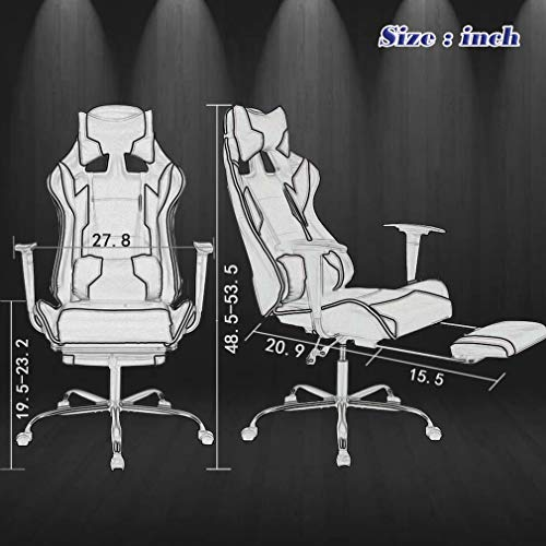 BestOffice Office Chair Ergonomic Swivel with Footrest Lumbar and