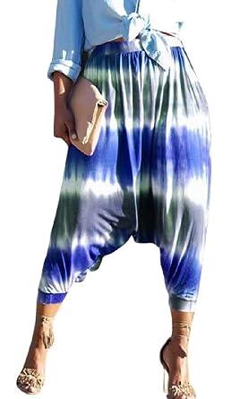lo último 503d2 84829 Amazon.com: yieg-mx Women 's tie dye Pantalones Baggy Harem ...