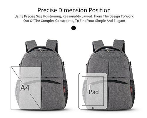 doxungo Oxford bolsa mochila para pañales para mamá Gran Capacidad y multifunción mochila de mamá Maca red Maca red