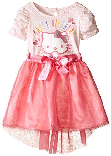 (Hello Kitty Little Girls' Toddler Tutu Dress, Blushing Bride, 4T)