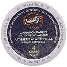 Timothy's World Cinnamon Pastry Coffee K-Cups for Keurig Brewers 96 Count