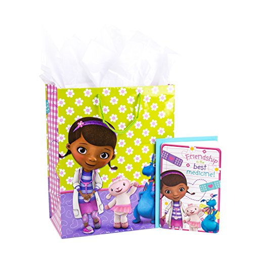Doc Envelope - Hallmark Large Birthday Gift Bag with Card and Tissue Paper (Doc McStuffins)
