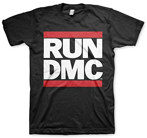 MERCH ARTIST Run DMC Classic Logo Adult T-Shirt - Black (Large)]()