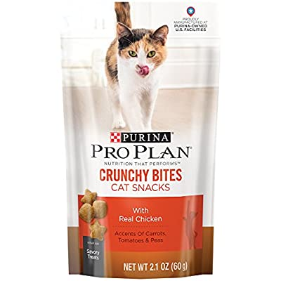 Cat Food Purina Pro Plan Crunchy Bites Cat Snacks – 10-2.1 oz. Pouches [tag]