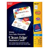 Avery Two-Side Printable Clean Edge Rounded Corner Business Cards for Inkjet Printers, White, Pack of 160 (88220), Office Central