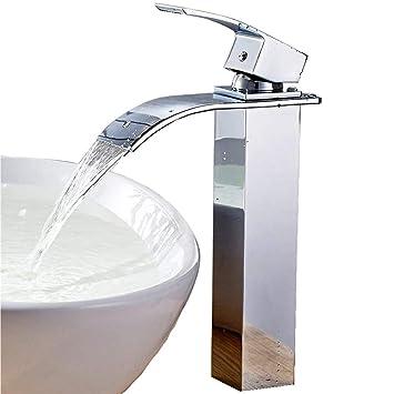 Auralum Waterfall Faucet Bathroom Basin Sink Faucet Hot Cold Mixer