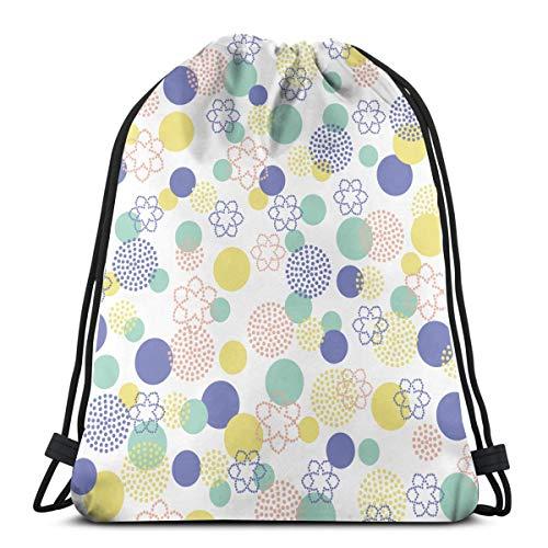 Lichtenstein Macarons Blue Dot Drawstring Bags Gym Bag Backpack Shoulder Sackpack