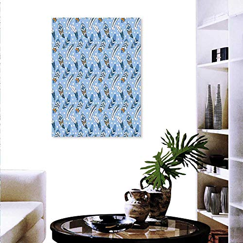 Anyangeight Modern Wall Paintings Traditional Romantic Contemporary Leaves Background Tribal Ethnic Image Print On Canvas Wall Decor 32