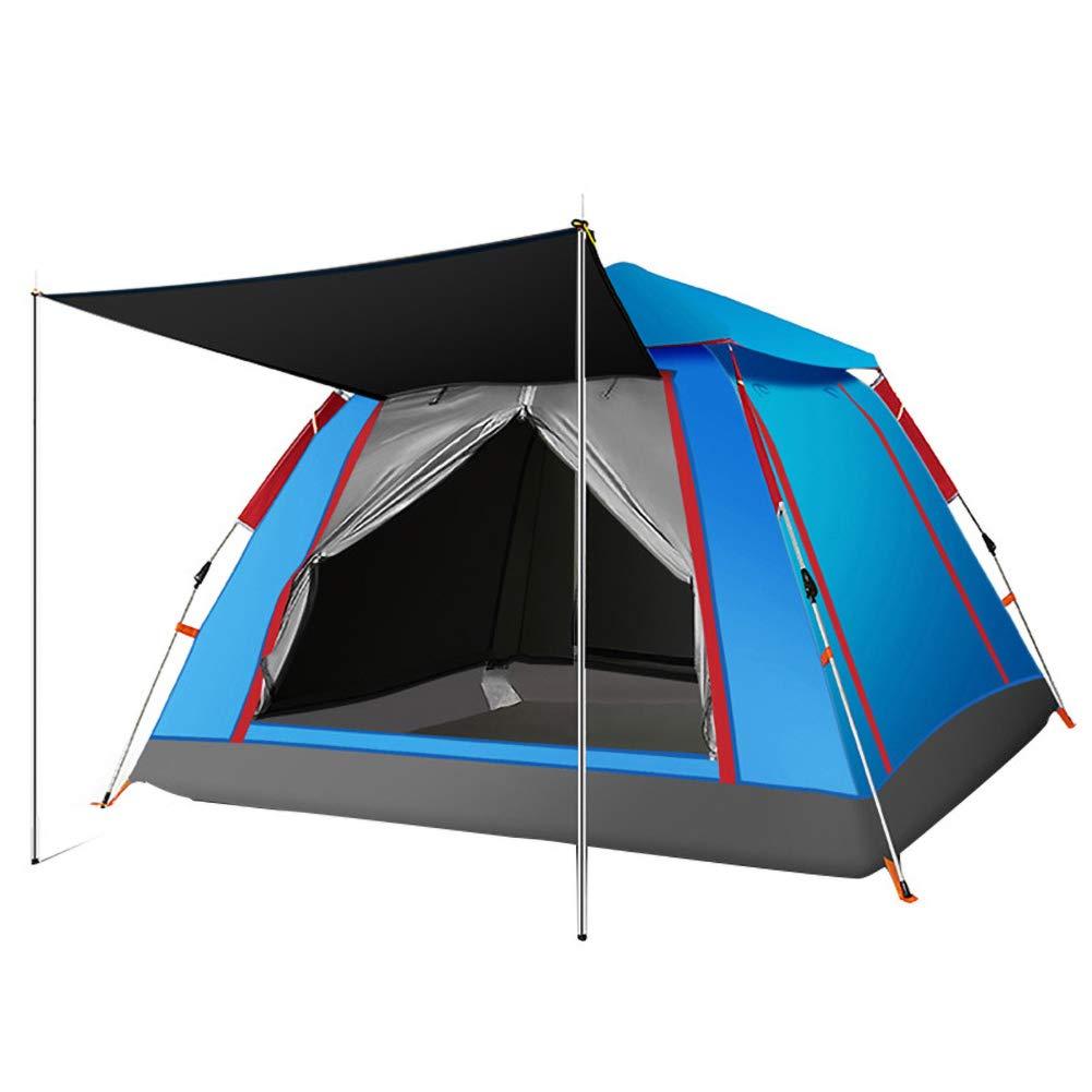 Tent extérieure de Camping Facile et Rapide Camping Professionnel Tissu imperméable et Coupe-Vent 3 Ventilation Grande Grille Prougeection UV Double Couche Légère et Facile à Transporter bleu -