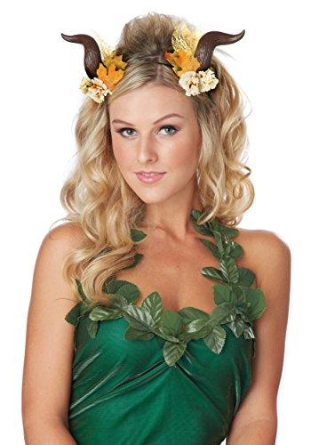 California Costumes Women's Woodland Fairy Horns, Brown, One Size (Woodland Fairy Costumes For Adults)