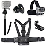 Ordel® Ultimate Accessories Pack for GoPro Head & Chest Strap & Monopod For HD & Hero 1/2/3/4