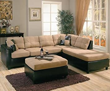 harlow right l shaped two tone sectional sofa by coaster furniture amazoncom coaster shape home office