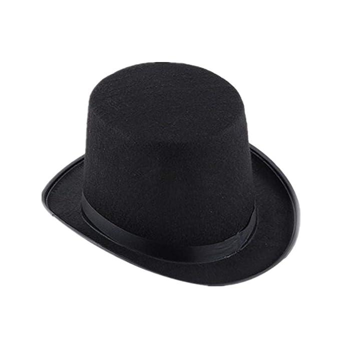 FOANA Black Hat Halloween Magician Magic Hat Cappello da jazz cupola magia  Cappello a cilindro (NERO)  Amazon.it  Abbigliamento ff6501765f73