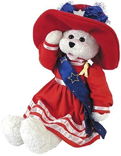 Chantilly Lane G1922 19  Betsy Patriotic Bear Plush Singing - God Bless America by Chantilly Lane