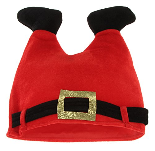 Gemvie Women's Christmas Father Tummy Funny Santa Elf Hat Headsize 22.4