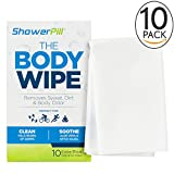 This is not your average body wipe. Shower Pill body wipes were created by a trio of athletes who know a thing or two about skipping showers after exhausting workouts. These body wet wipes let you stay clean in a time crunch because they are FDA-appr...