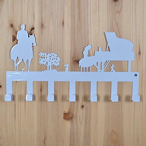 Ganchos para ropa ganchos para salón o dormitorio baño habitación Creative wrought-iron puerta montado en la pared estante Strongs