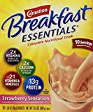 Carnation Instant Breakfast Powder, Strawberry, 10 pk/1.26 oz.packets
