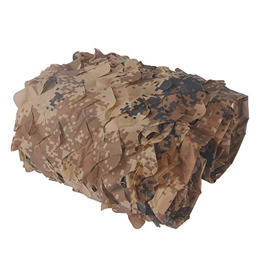 INorton Camo Mesh Camping Camouflage Net, 10×13ft Military Camo Mesh Netting,Hunting Shooting Blind Sunscreen Nets,Fit for Camping,Fishing,Party Decoration by INorton