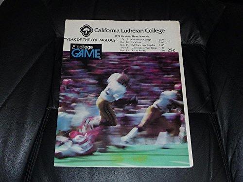 1976 LA VERNE (CA) AT CALIFORNIA LUTHERAN COLLEGE FOOTBAL...