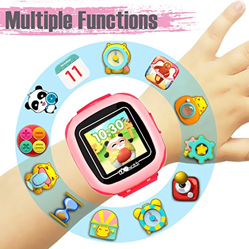 Kids Game Smart Watch - Symfury Smartwatch for Boys Girls Toddler with Pedometer Camera Alarm Clock Stopwatch 1.5'' Touch GPS Activity Fitness Tracker Children Sports Watches Learning Toys 3-12 Years by Symfury (Image #2)