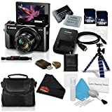 Canon PowerShot G7 X Mark II Digital Camera w/1 Inch CMOS Sensor and Tilt LCD Screen Touchscreen- Professional Bundle (1066C001)