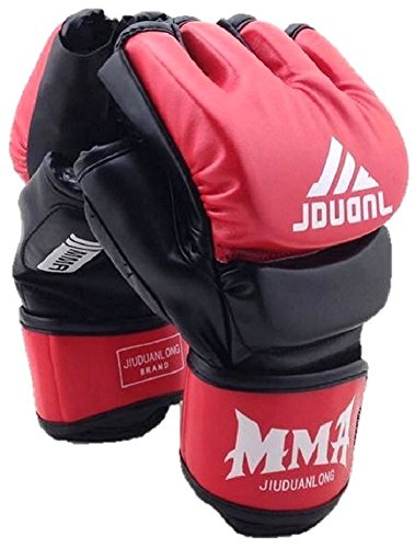 MMA Grappling Gloves for Mixed Martial Arts UFC Cage Fight Hide Leather Sparring Training Strong