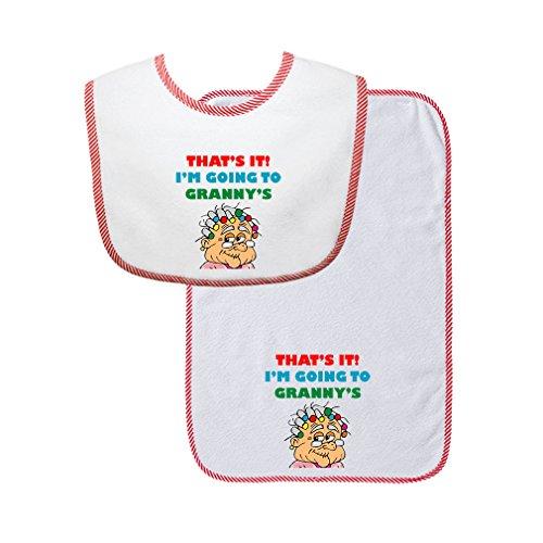 Burb Cloth Set - That'S It! I'M Going To Granny'S Cute Rascals Gingham Baby Bib & Burb Set Red