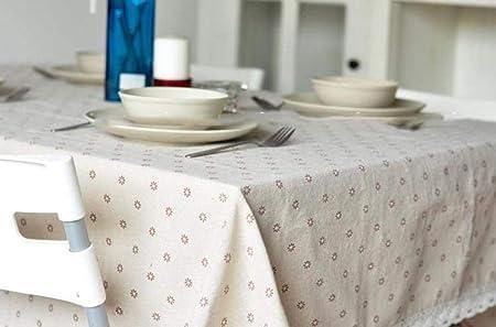 hule mesa rectangularMantel de lino de algodón mantel pequeño ...