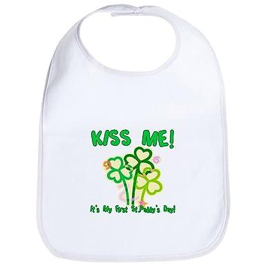 0b89f9f5a CafePress - Kiss Me! Baby's First St. Pat Bib - Cute Cloth Baby Bib,  Toddler Bib: Amazon.co.uk: Clothing